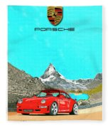 1997 Porsche 993 Twin Turbo R  Fleece Blanket