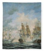 19th Century Naval Engagement In Home Waters Fleece Blanket