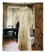 19th Century Wedding Dress Fleece Blanket