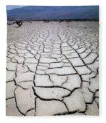 1a6832 Mud Cracks In Death Valley Fleece Blanket