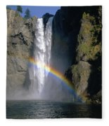 1m4716 Snoqualmie Falls And Rainbow Fleece Blanket