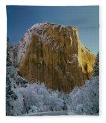 1m6576-winter On El Capitan In 1970 Fleece Blanket
