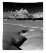 1m9303 Bwtetons Seen From Jackson Hole Fleece Blanket