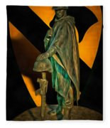 1st Cav History - Respect From Another Trooper To Another - Oil Fleece Blanket
