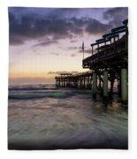 1st Dawn Cocoa Pier Fleece Blanket