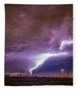 1st Severe Night Tboomers Of 2018 015 Fleece Blanket