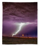 1st Severe Night Tboomers Of 2018 018 Fleece Blanket