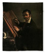 1824 Vasily Tropinin Fleece Blanket