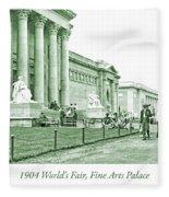 1904 World's Fair, Fine Arts Palace Fleece Blanket