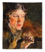 1920- Nikolay Feshin Fleece Blanket