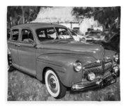 1942 Ford Super Deluxe Sedan Bw  Fleece Blanket