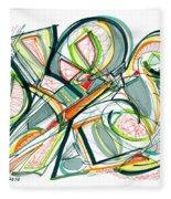 2010 Abstract Drawing Seventeen Fleece Blanket