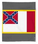 3d Confederate Flag Fleece Blanket