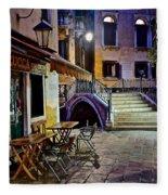 An Evening In Venice Fleece Blanket