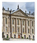 A View Of Chatsworth House, Great Britain Fleece Blanket