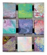 Acrylic Pouring Fleece Blanket