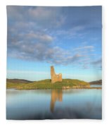 Ardvreck Castle - Scotland Fleece Blanket