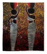 African Women Fleece Blanket