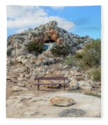 Agioi Saranta Cave Church - Cyprus Fleece Blanket