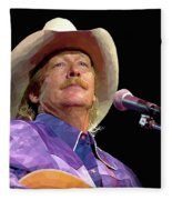 Alan Jackson Fleece Blanket