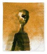 Alien Portrait Fleece Blanket