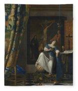 Allegory Of The Catholic Faith Fleece Blanket