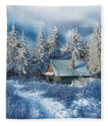 Alpine Hideaway Fleece Blanket