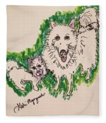 American Eskimo Dog Fleece Blanket