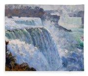 American Falls Fleece Blanket