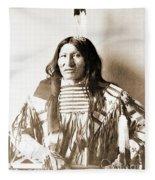 American Indian Chief Fleece Blanket