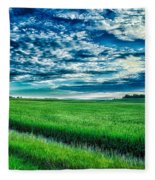 An Iowa Sunset Fleece Blanket