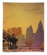 Angkor Sunrise Fleece Blanket
