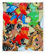 Animal Cookies Fleece Blanket