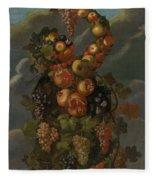 Anthropomorphic Allegory Of Autumn Fleece Blanket
