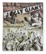 Anti-immigrant Cartoon Fleece Blanket