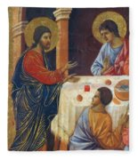 Appearance Of Christ To The Apostles Fragment 1311  Fleece Blanket