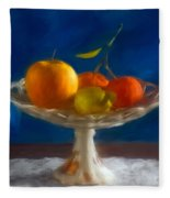 Apple, Lemon And Mandarins. Valencia. Spain Fleece Blanket