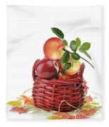 Apples In A Basket  Fleece Blanket