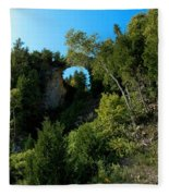 Arch Rock Mackinac Island Fleece Blanket