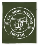 Army Aviation Vietnam Fleece Blanket