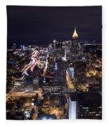 Atlanta Georgia - Evening Commute Fleece Blanket