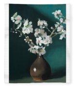 Australian Almond Blossom Fleece Blanket