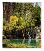 Autumn At Hanging Lake Waterfall - Glenwood Canyon Colorado Fleece Blanket