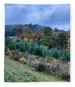 Autumn Colors In The Blue Ridge Mountains Fleece Blanket