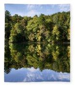 Autumn Sunrise Reflection Landscape Fleece Blanket