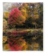 Autumn's Mirror Fleece Blanket