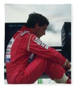 Ayrton Senna. 1992 French Grand Prix Fleece Blanket