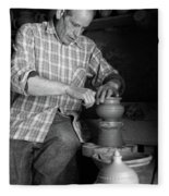 Azores Islands Pottery Fleece Blanket
