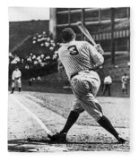 Babe Ruth Fleece Blanket by American School