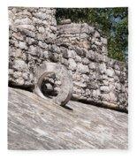 Ball Court At The Coba Ruins  Fleece Blanket